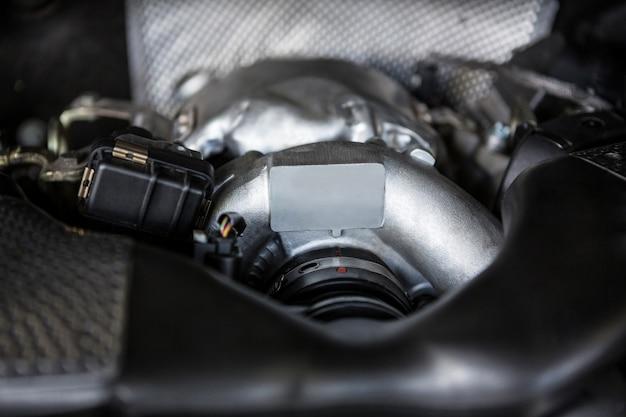 Close-up z silnika samochodu