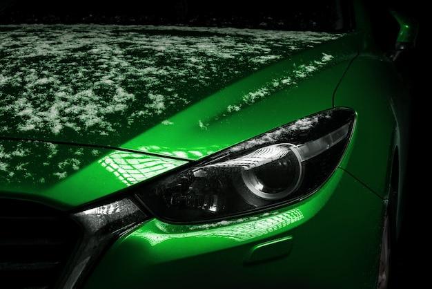 Close-up zdjęcie reflektory samochodowe