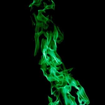 Close-up zielony ogień