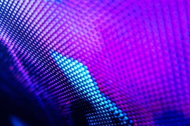 Closeup led zamazany ekran. nieostrość tła led. abstrakcyjne tło idealne do projektowania.