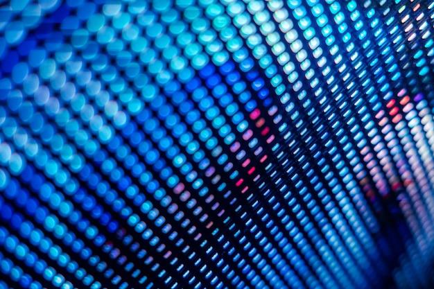 Closeup led zamazany ekran.