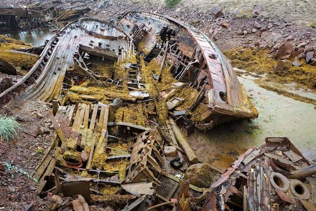 Cmentarz statków na północy poza kołem podbiegunowym