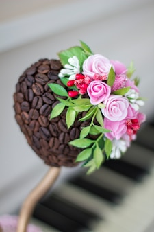 Coffee topiary piano