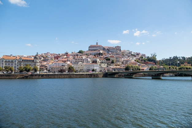 Coimbra od rzeki, portugalia