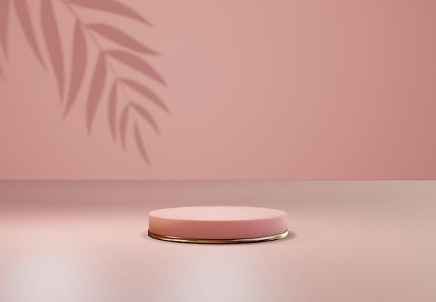 Cokół w kolorze różowego złota na pastelowym tle