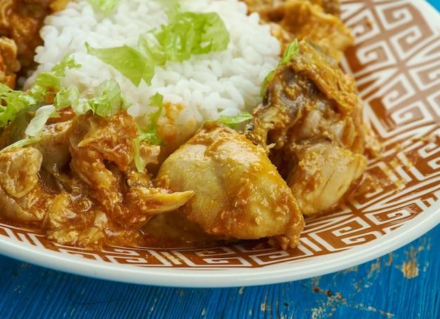 Colombo de poulet, kurczak z indyjskim sosem colombo. kuchnia gujańska