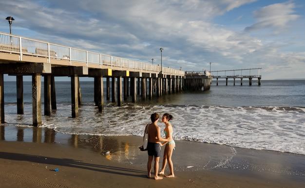 Coney island beach w nowym jorku