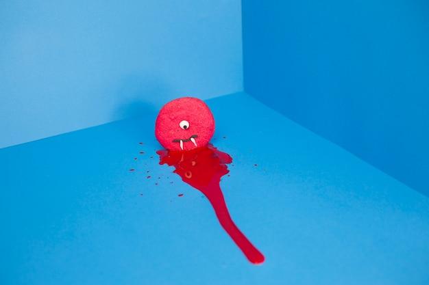 Cookie potwora w kałuży krwi