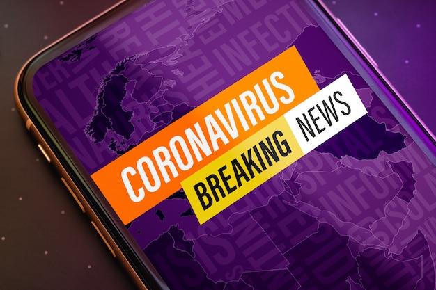 Coronavirus breaking news update concept.