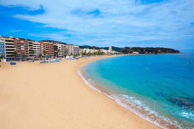 Costa brava plaża lloret de mar catalonia hiszpania