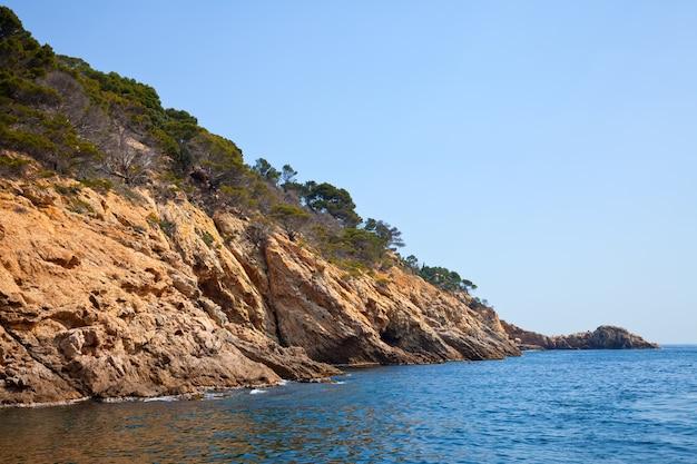 Costa brava wybrzeża krajobrazu