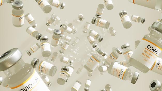 Covid19 szczepionka rollout tło dla tapety na scenie zdrowia i mikrobiologii