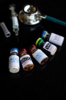 Covid19 szczepionki. świat jest w środku pandemii covid-19.
