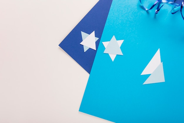 Craft paper and stars of david