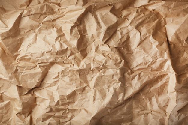 Craft zmięty papier jako powierzchnia tekstury