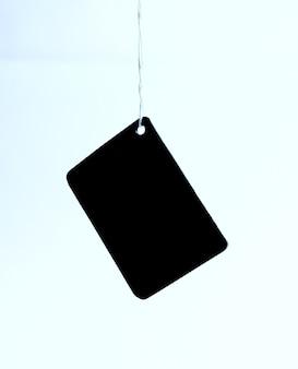 Creative background.blank tag karton na białym tle.
