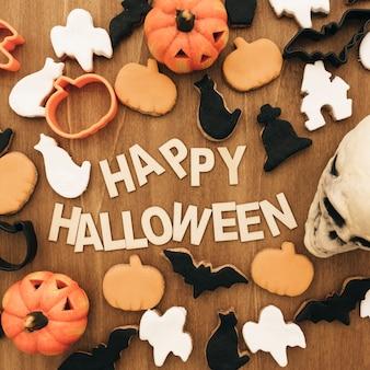 Creative halloween skład z plików cookie