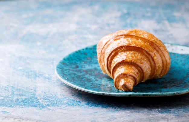 Croissant breakfast fresh baking.