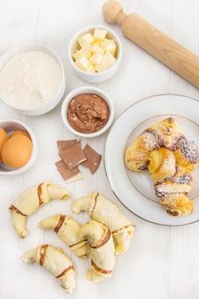 Croissant czekoladowy domowej roboty