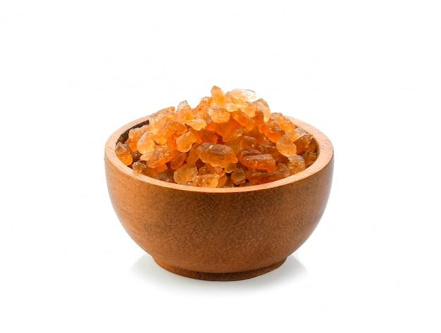 Cukier w drewnianej misce
