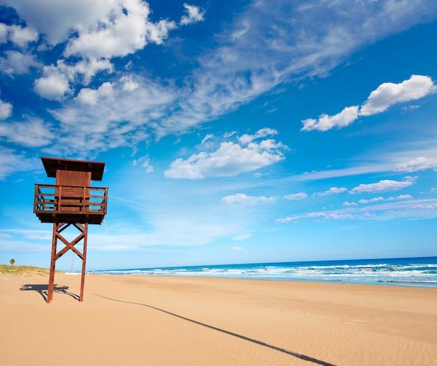 Cullera dosel plaża śródziemnomorska walencja