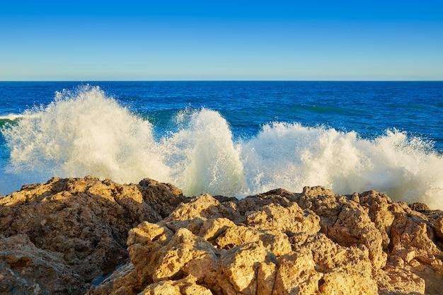 Cullera playa los olivos plaża zachód słońca w walencji