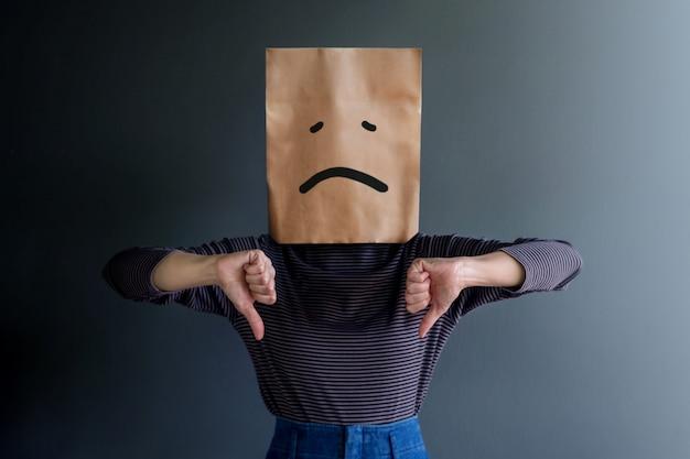 Customer experience lub human emotional concept.