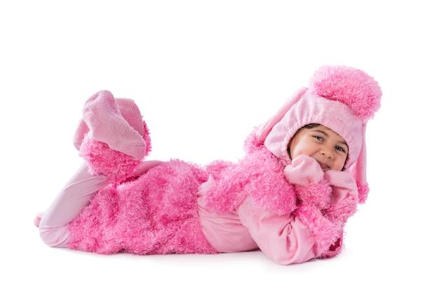 Cute girl noszenie kostiumu fancy dress