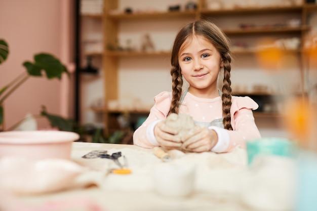 Cute little girl robi potery