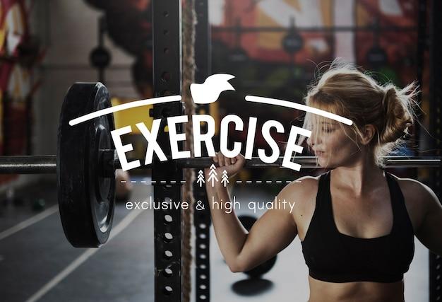 Ćwicz plakat fitness ciała