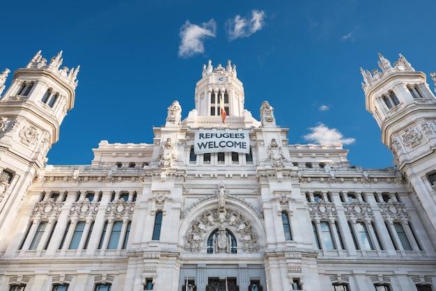 Cybeles palace city hall w madrycie, hiszpania.