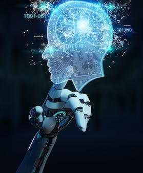 Cyborg tworzący sztuczną inteligencję