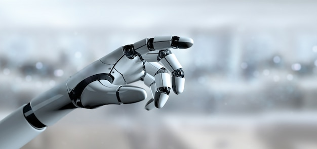 Cyborga robota ręka - 3d rendering