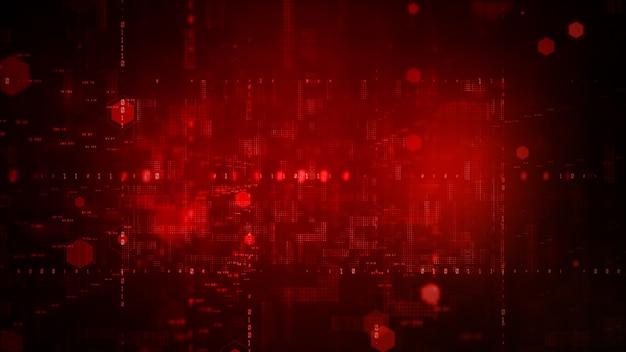 Cyfrowa cyberprzestrzeń z cząsteczkami i cyfrowe połączenia sieciowe