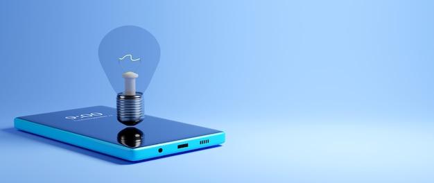 Cyfrowa edukacja online. 3d z telefonu komórkowego o nauce na telefonie, komputerze. pojęcie dystansu społecznego. sieć internetowa classroom online.