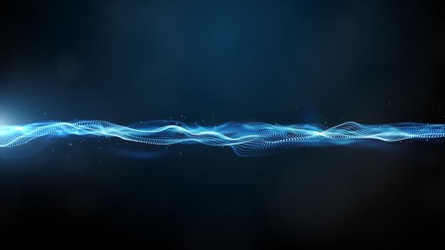 Cyfrowa fala cząstek i lekkie abstrakcyjne tło