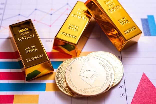 Cyfrowa waluta złotego tokena ethereum zyskuje większą wartość ekonomiczną niż sztabka złota