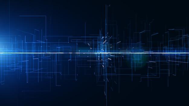 Cyfrowe abstrakcyjne tło cyfrowa cyberprzestrzeń