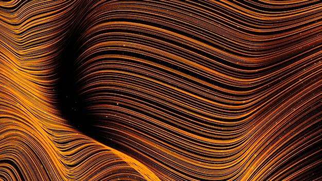 Cyfrowe streszczenie złota fala kolor tła
