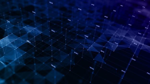 Cyfrowe tło cyberprzestrzeni