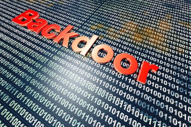 Cyfrowy backdoor, port podatny na ataki hakerów.