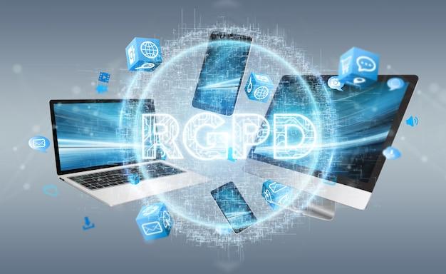 Cyfrowy interfejs gdpr na urządzeniach technicznych