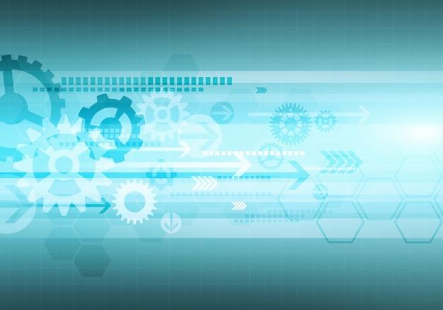 Cyfrowy koncepcyjny obraz gradientu sześciokąt biznes technologia tło
