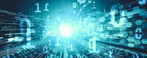 Cyfrowy przepływ danych na drodze z rozmyciem ruchu w celu stworzenia wizji szybkiego transferu