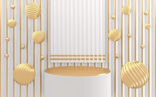 Cylinder shape white style, podium minimalistyczny geometryczny. renderowanie 3d
