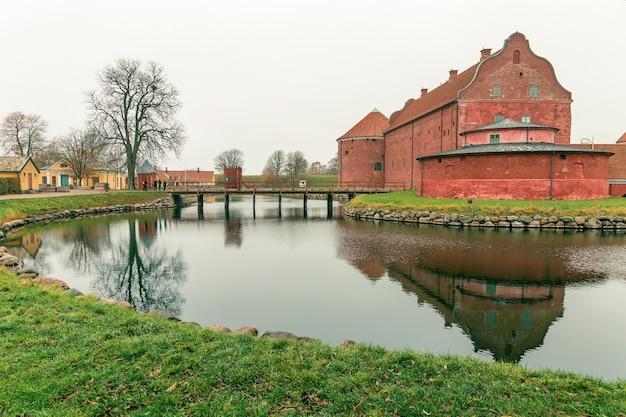 Cytadela landskrona w regionie skanii w szwecji.