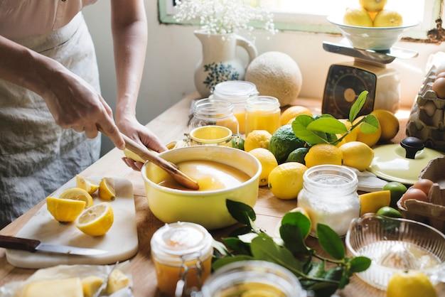 Cytryna curd jedzenie fotografia przepis na receptę
