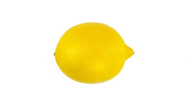 Cytryna na białym tle.