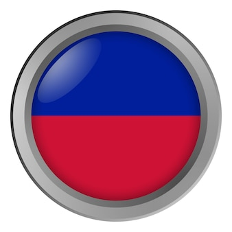 Cywilna flaga haiti jako guzik