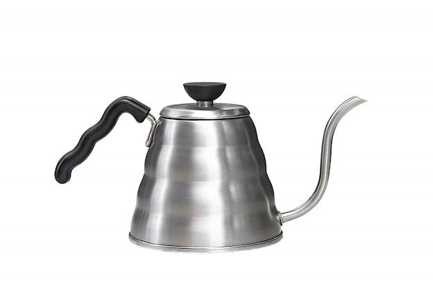 Czajnik ociekowy kawy na białym tle